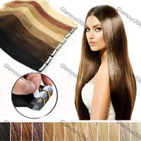 "16""18""20""22""24"" PU Seamless Skin Tape in Remy Human Hair Extensions Straight"