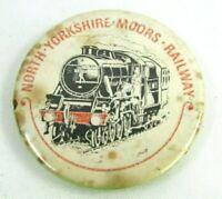 1920s Vintage Pin Button Pinback North Yorkshire Moors Railway Locomotive Train