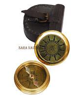 Nautical Brass Compass Wheel Marine Robert Frost Poem Vintage Solid Brass
