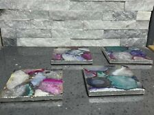 More details for agate coasters - mixed agate - natural agate coaster (1 x slice)