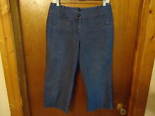 "Womens Larry Levine Stretch Size 8 Jean Type Of Capri Pants "" BEAUTIFUL PAIR """