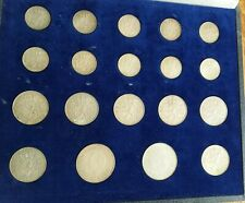 Zilveren munten set uitgegeven 1973 met dfl1,  2 1/2 en 2x 10 dfl, 19 stuks