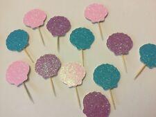 Handmade seashell Cupcake toppers for mermaid, under the sea 🌊 or ocean theme