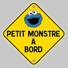 BEBE PETIT MONSTRE A BORD SECURITE SIGNE 120mm AUTOCOLLANT STICKER AUTO (PB476)