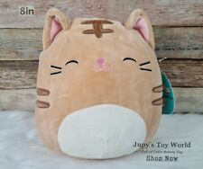 """☆New☆ 8"""" Squishmallow Nathan the Tabby Cat - Plush Pillows-Super Soft"""
