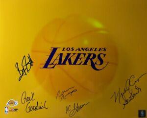 Scott Goodrich Green Nixon Signed Autographed 16X20 Photo Lakers 6 Autos COA