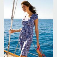 Boden Maggie Blue Shift Knee Length Dress Womens 8R