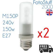 2X 150w ES Modelling Bulb Bowens Elinchrom Interfit 240v E27 64478 Halogen M150P