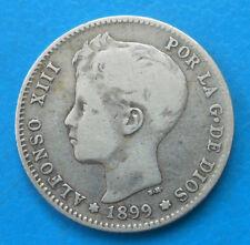 Espagne Spain Espana 1 peseta argent 1899 km 706