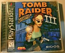 Tomb Raider Iii 3 Black Label Ps1 Sony PlayStation Complete Tested