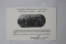 Us Souvenir Card Sc2 Postcard 1960 Barcelona Philatelic Congress
