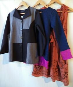 Bulk lot 3 items size 10 clothing NWT black blue brown grey tops mixed women new