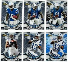 Indianapolis Colts 6-Card lot Hilton Moncrief Dorsett RC Refractor #'d Non-Auto