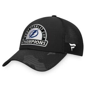2021 Tampa Bay Lightning Fanatics Stanley Cup Champions Locker Snapback Cap Hat