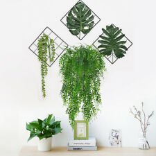 30'' Simulation Rose Vine Green Leaves Hanging Plant Decors for Wedding Party