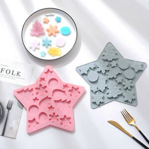 Star Pig Snowflake Chocolate Mould Cookies Soap Baking Mold Ice Cube Tray X'mas