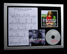 SHERYL CROW First Cut Deepest TOP QUALITY CD FRAMED DISPLAY+EXPRESS GLOBAL SHIP