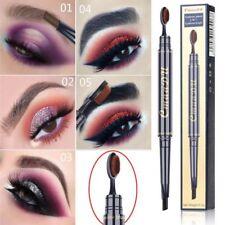 crayon retractable sourcils + brosse pinceau intégrée Cmaadu ou lot 3 pochoirs