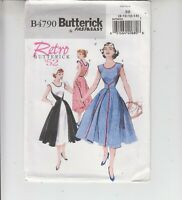 Butterick 4790 Misses Wrap Dress Retro 1952 Sewing Pattern 8-14 Uncut