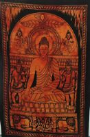 Orange Mahaveer Buddha Tapestry Tie-Dye Poster Home Decor Wall Hanging Bohemian