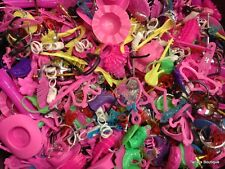 ♚Wow (100)pcs. of Barbie Doll Toy Accessories~shoes, purses, brushes, etc.♚