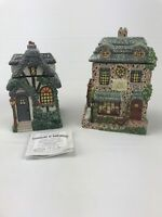 "Hawthorne Village ""Kitchen Cafe"" & ""Ye Olde Bakery"" Thomas Kincaid Canisters AC4"