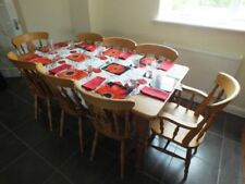 Pine Dining Tables Sets with 8 Seats