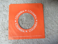 COLUMBIA orange canada 45 record company sleeve only    45