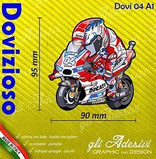 Adesivo Moto Dovizioso 04 caricatura stickers carene casco 10 x 9 cm