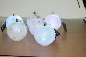X-Mas LED Colour changing Glitter Light Up Balls Ornament Home decoretion DIY