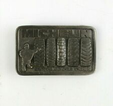 Vintage Michelin Earth Mover Tires Belt Buckle Great American Buckle Company