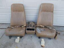 73-77 Chevy Truck High-Back Bucket Seats W/Console,Seat Tracks,Seatbelt& Bracket