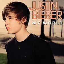 "Justin Bieber - My World CD 2009 Island Enhanced CD w/ 2 videos ""One Time"" + 1"