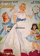 VINTAGE UNCUT 1955 HEAVENLY BLUE WEDDING~#1 REPRODUCTION WITH RARE ALTER INSERT!