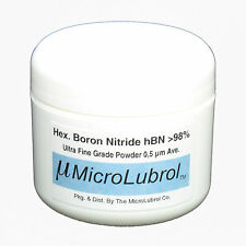 MICROLUBROL 1/2 oz HEXAGONAL BORON NITRIDE hBN Powder ULTRA FINE 0.5 µ micron