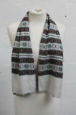 Vintage 1960s 60s Mens Scarf Paisley Cotton Mod Retro Preppy Tailored