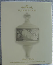 NIB 2012 HALLMARK WINTER PARK PORCELAIN CHRISTMAS TREE KEEPSAKE ORNAMENT NEW