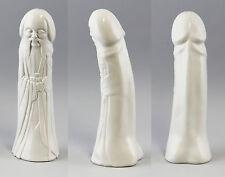 Mönch China/ Phallus Penis Kämmer Porzellan weiß H29cm 9944175
