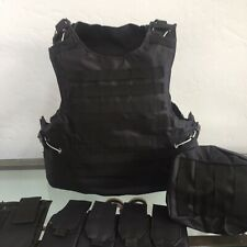 Body Armor Carrier Vest Bulletproof  Made With Kevlar Plates Fits Ar500 3a