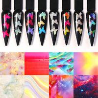 3D Nagel Abziehbilder Holografisch Transfer Schmetterling Nail Stencil Stickers