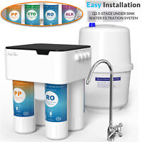 5 Stage Alkaline Reverse Osmosis Drinking Water Filter RO Water Purifier System