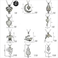 Cage Oyster Pearl Bead Alloy Locket Women Open Pendant Charm Fashion Necklace