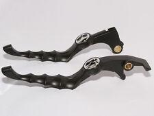 Black Skull Skeleton Zombie Levers Cable Clutch Honda Fury shadow VTX VT 600 750