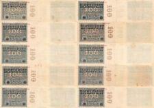 Lot 10 Geldscheine Reichsbanknoten 100 Millionen Mark 1923