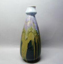 (G6101) Keramik Vase mit Flambé-Glasur,  wohl Frankreich um 1910, Höhe 28,5 cm