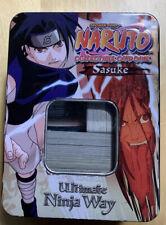 NARUTO COLLECTIBLE CARD GAME - 2002 SASUKE TIN (Barely Used)