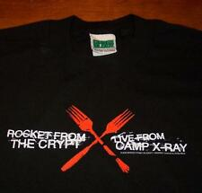 ROCKET FROM THE CRYPT Live From Camp X-RAY TOUR 2002 BAND T-Shirt MEDIUM NEW