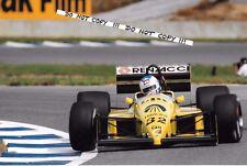 9x6 Photograph, Nicola Larini  F1 Coloni-Cosworth FC187  Spanish GP Jerez 1987