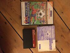 Master System jeu TECMO WORLD CUP'93 AVEC MANUEL ET BOITE. COMPLET.