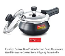 Prestige Deluxe Duo Plus Induction Base Hard Anodized Aluminium Pressure Cooker